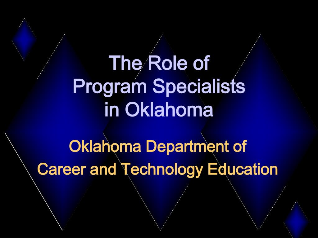 the role of program specialists in oklahoma l.
