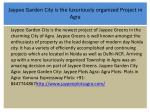 jaypee garden city is the luxuriously organized project in agra