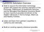 calheers solicitation overview