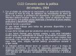 c122 convenio sobre la pol tica del empleo 1964