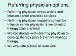 referring physician options