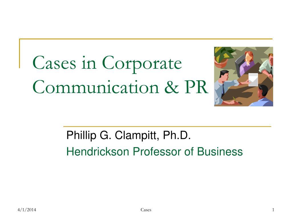 cases in corporate communication pr l.