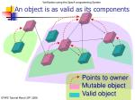 an object is as valid as its components