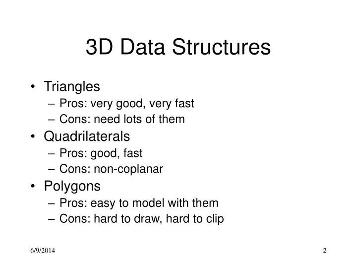 3d data structures