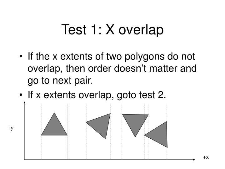 Test 1: X overlap