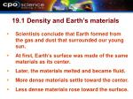 19 1 density and earth s materials