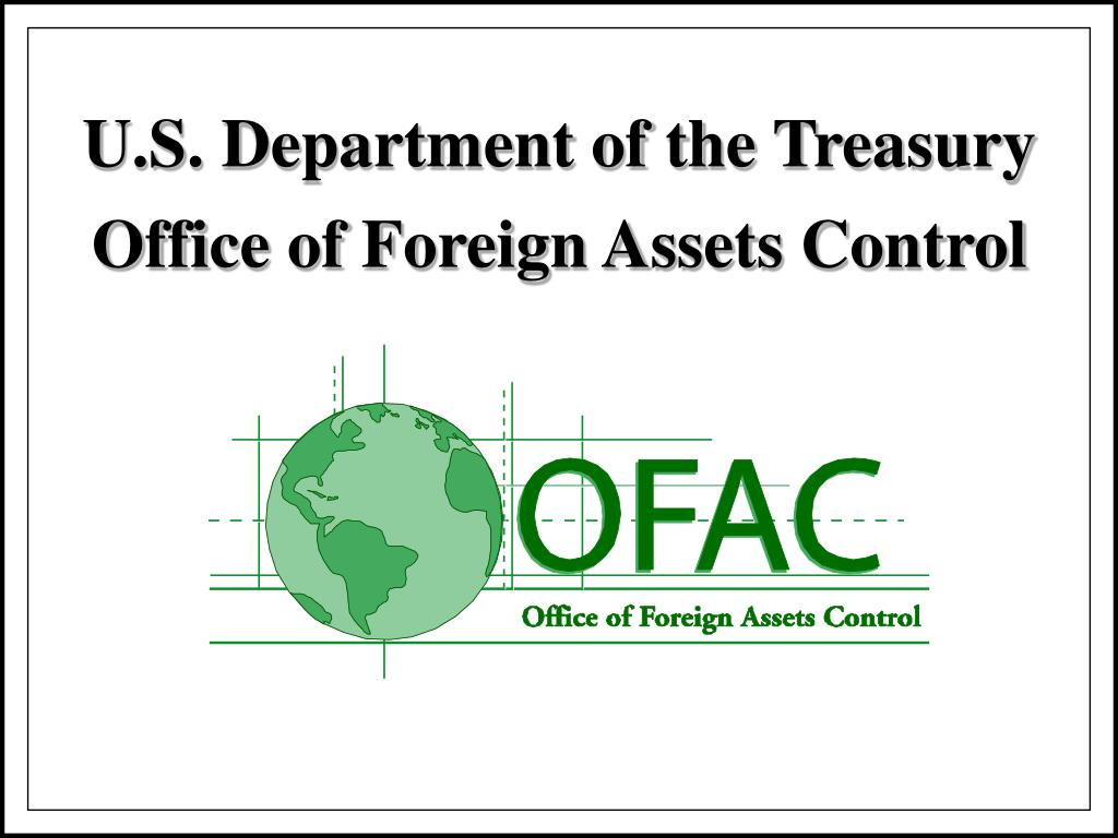 u s department of the treasury office of foreign assets control l.
