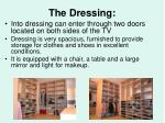 the dressing