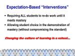 expectation based interventions