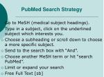 pubmed search strategy
