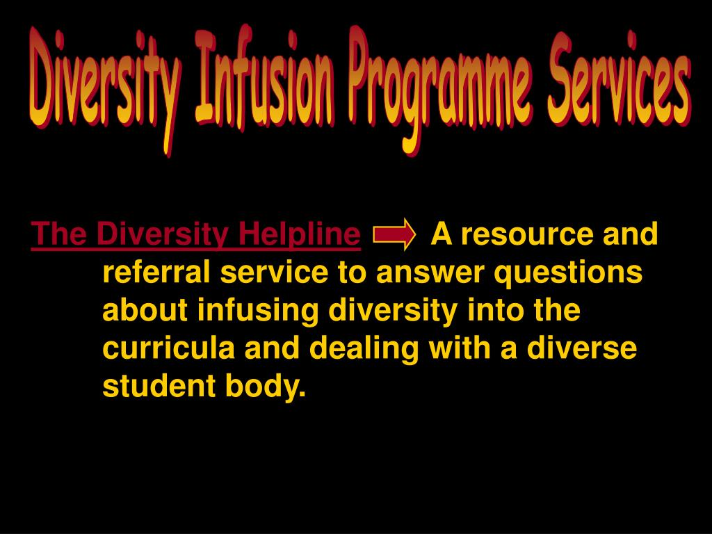 Diversity Infusion Programme Services