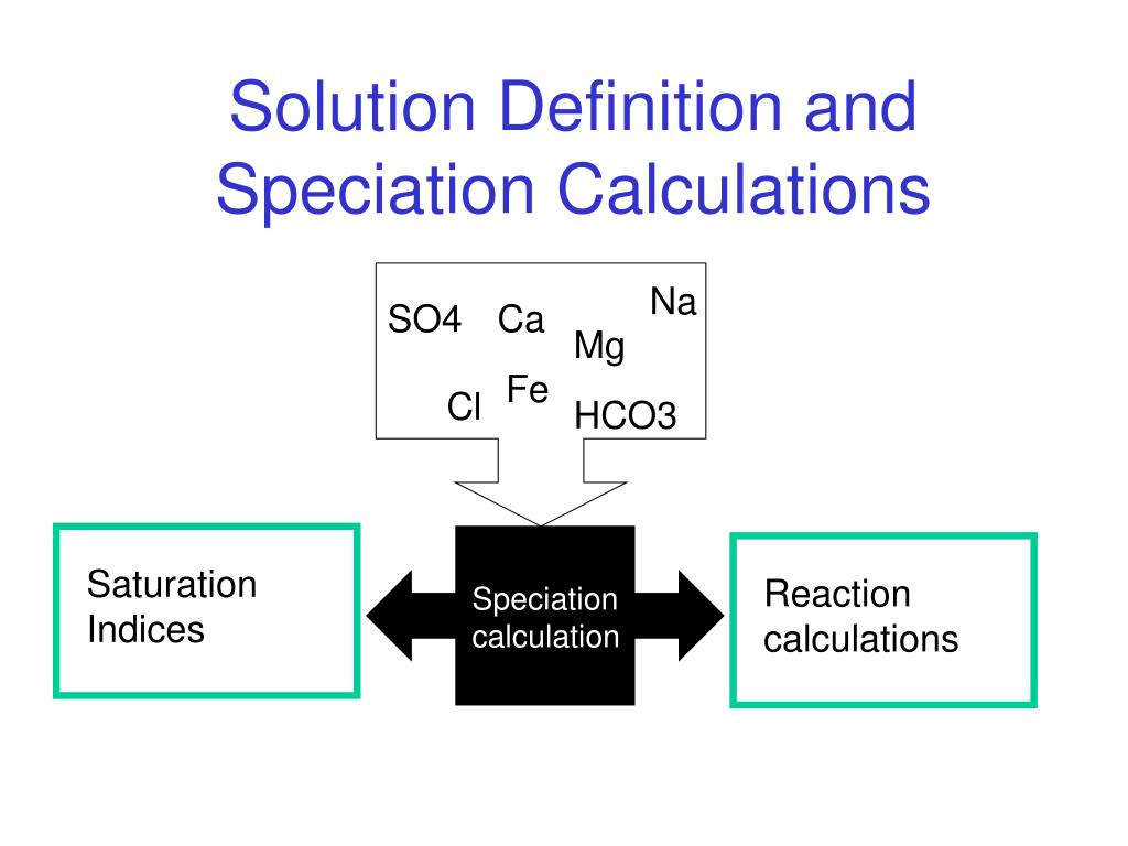 solution definition and speciation calculations l.