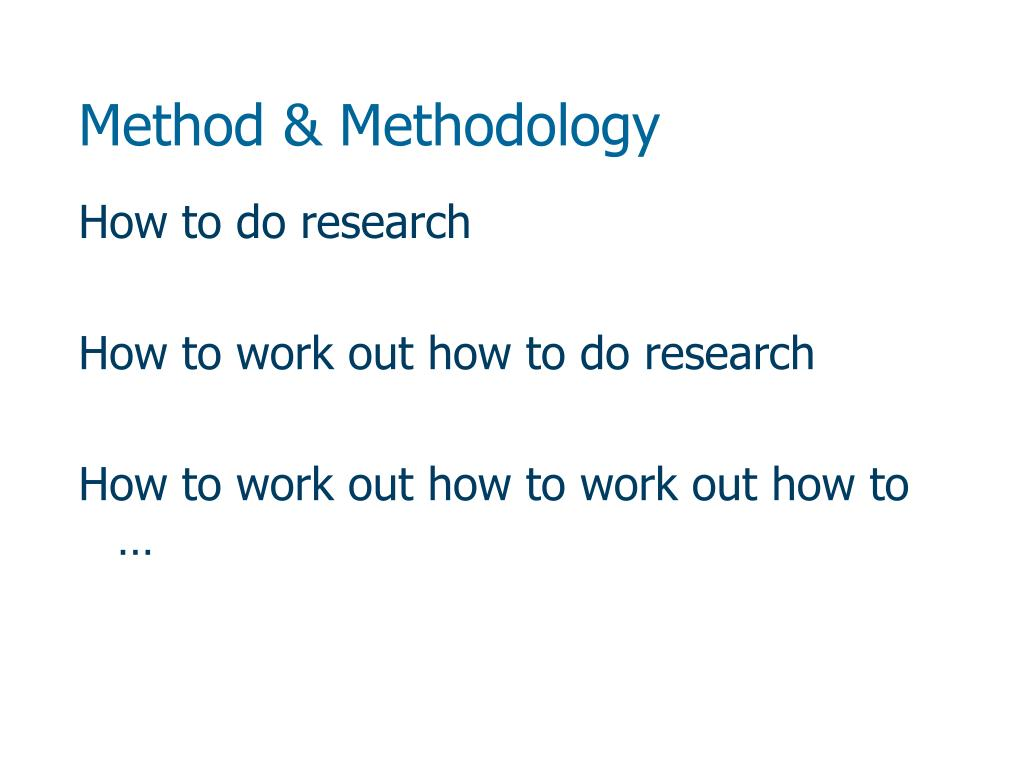 method methodology l.