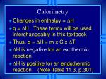 calorimetry23