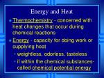 energy and heat
