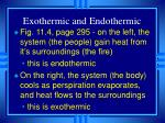 exothermic and endothermic