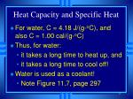 heat capacity and specific heat17