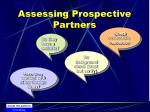 assessing prospective partners