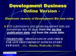 development b usiness online version