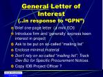 general letter of interest in response to gpn