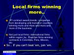local firms winning more