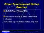 other procurement notice sources