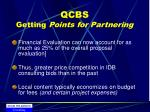 qcbs getting points for partnering