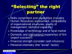 selecting the right partner22