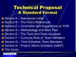 technical proposal a standard format