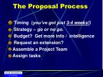 the proposal process