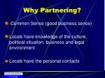 why partnering