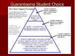 guaranteeing student choice