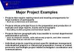 major project examples