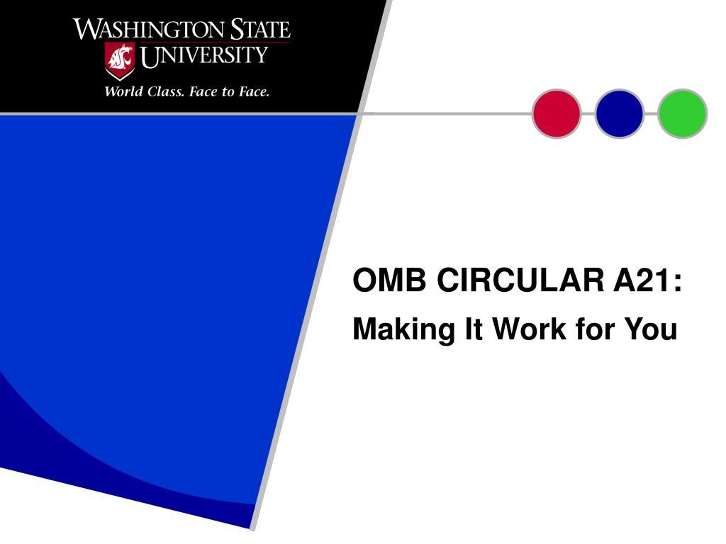 omb circular a21 l.