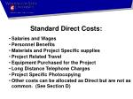 standard direct costs