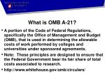 what is omb a 21