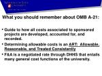 what you should remember about omb a 21
