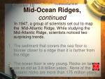 mid ocean ridges continued