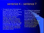 sentence 4 sentence 7