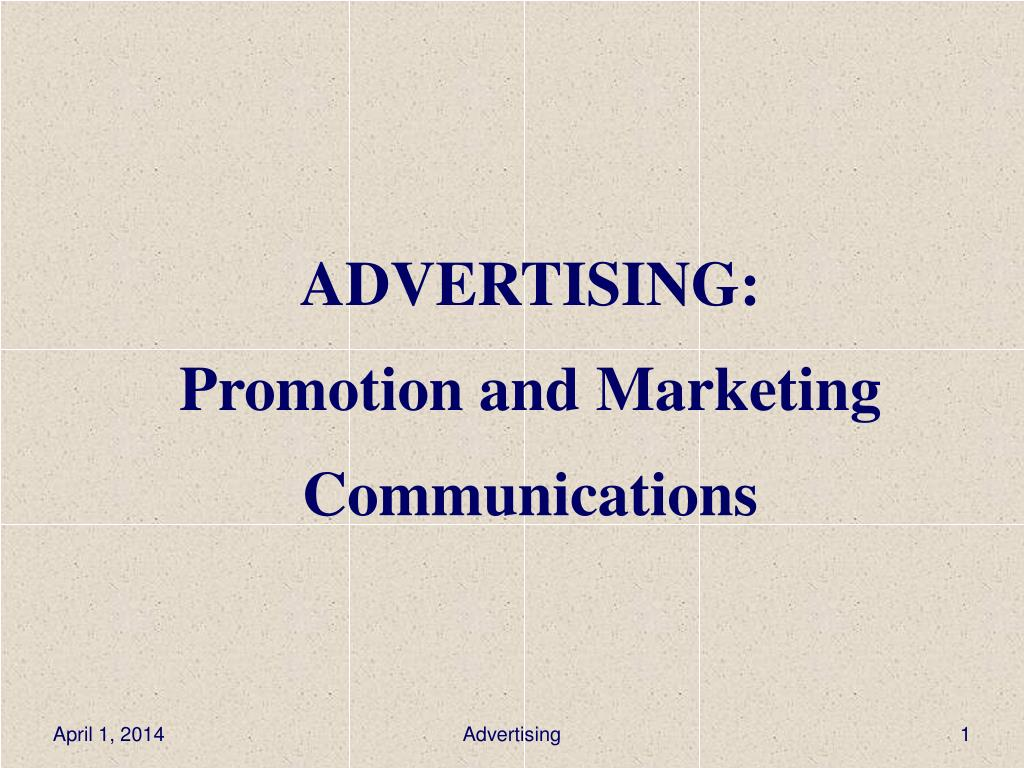 advertising promotion and marketing communications l.