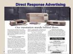 direct response advertising