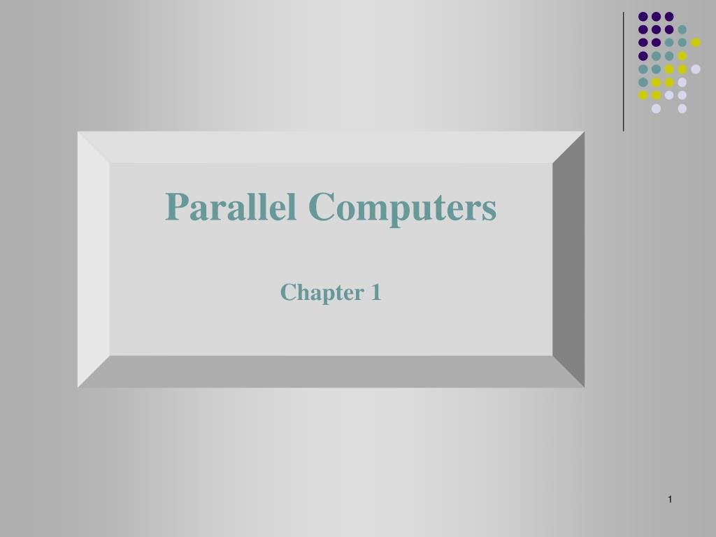 parallel computers chapter 1 l.