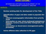 project outcome 1 information captured for development of the transboundary diagn0stic analyses