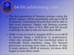 64 bit addressing cont16