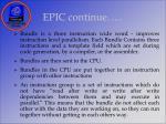 epic continue