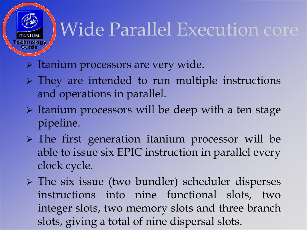Wide Parallel Execution core