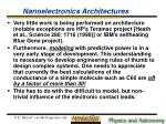 nanoelectronics architectures