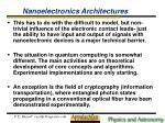 nanoelectronics architectures24