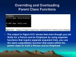 overriding and overloading parent class functions28