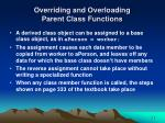overriding and overloading parent class functions30